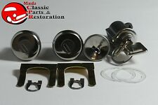 67-72 Chevy GM Truck Locks Ignition Door & Glovebox Later Style Square Head Keys