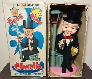 BATTERY OPERATED GOOD TIME CHARLIE TIN BAR TOY BARWARE NMIB 1960'S JAPAN WORKING