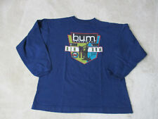VINTAGE Bum Equipment Long Sleeve Shirt Adult Small Blue Spell Out Mens 90s *