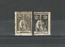 R1639 - ANGOLA 1913 - LOTTO * LINGUELLATO CERERE N°142/43 - VEDI FOTO