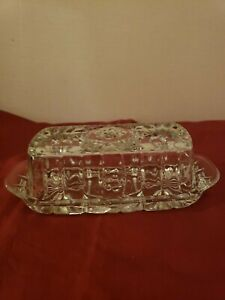 Crystal covered butter dish
