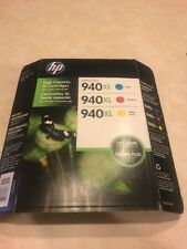 New Tri Combo 3 Pack HP 940XL Tri Color CH637BN Genuine Combo Date: Nov 2017