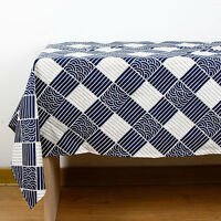 Japanese Style Print Tablecloth Decorative Elegant Table Cloth Linen Cover