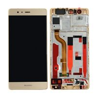New Huawei P9 EVA-L09 Touch Screen Digitizer LCD Assembly With Frame Gold