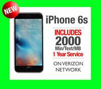 New TracFone Apple iPhone 6s 32GB Space Gray on Verizon + 1 Year 2000 Min/Txt/MB