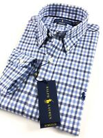 Ralph Lauren Shirt Men's Performance Oxford Blue Gingham Standard Fit RRP £109