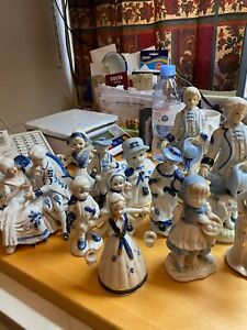 Job Lot Of 12 x Figure Ornaments - All in good condition
