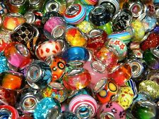 NEW 25/Pcs High Quality  Visual GRAPHIC Mixed 14mm Resin European Beads lot