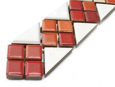 30 Stück Fliesen Bordüren (2,80 Euro/Stück) Jasba Lavita 3646 weiß rot 30x3 cm