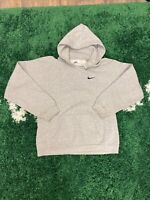 Nike Hoodie Youth Size XL Grey Vtg 90s Swoosh Logo Pullover Embroidered