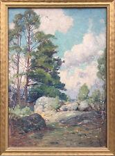 Friedrich Mortimer Lamb Rocky Landscape Painting