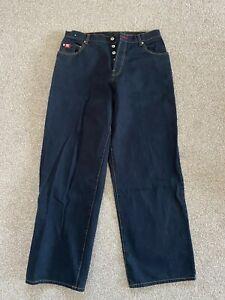 FUBU jeans W34  L32 Black distressed Platinium hip hop