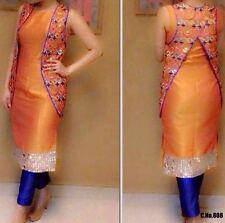 New Madhubala Jacket Style oringe  Suit Reyal mirar work