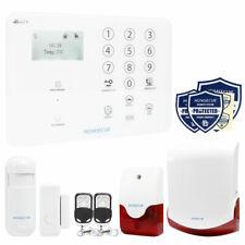 HOMSECUR 4G/GSM Burglar Alarm System Phone APP Control with Wireless Flash Siren