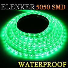 Boat / Truck / Car Waterproof 5M Green 5050 SMD 300 LED Flexible Strip Light 12V