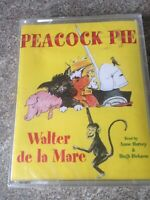 Peacock pie audio book cassette Walter de la marr