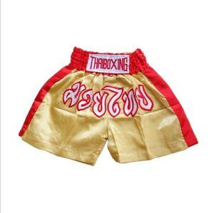 Muay Thai Fight Boxing Shorts Thailand Grappling Martial Arts Gear Satin Fabric