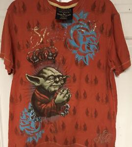 "Marc Ecko ""Cut & Sew"" Star Wars Yoda 2008 T-Shirt Vintage Exclusive, Men L"