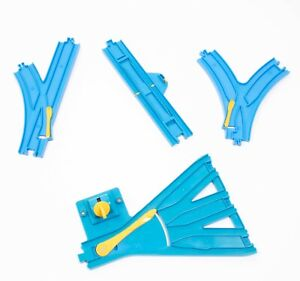 Tomy Plarail Trackmaster accessory BUNDLE - 4x Switches Points Junctions 3 Way