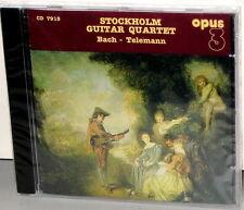OPUS 3 CD-7915: Stockholm Guitar Quartet - Bach + Telemann - OOP 1995 SWEDEN SS