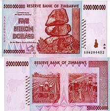 Zimbabwe Billet 5 BILLION DOLLARS 2008 P84 NEUF UNC