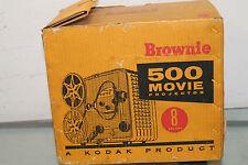 MOVIE PROJECTOR - 1960s Vintage Kodak Brownie 500 8mm Film Projector #189 w/ box