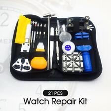 21PCS Horologe Watchmaker Link Pin Remover Case Opener Watch Repair Tool Kit Set