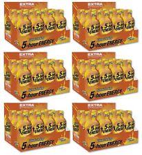 5 Hour Energy EXTRA STRENGTH Peach Mango SUGAR FREE Great Tasting 72 Bottles