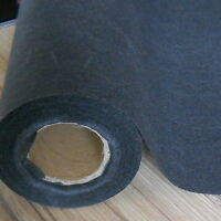 BLACK HEAVY WEIGHT IRON-ON INTERFACING 75 CM x 1 METRE
