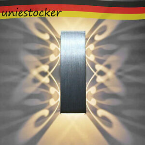 LED Wandlampe Modern Wandleuchte Flur Strahler Licht Up Down Innen Leuchten 6W