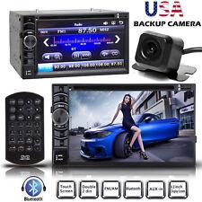 """6.2"""" HD Car 2Din DVD Stereo Dash Player Bluetooth Radio FM MP3 W/ Rear Camera"""