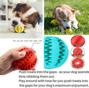 2 Pack Pet Ball Dog Balls Fetch Food, Teething Treat Clean Strong Rubber 3 Sizes