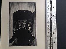 1930 s Art deco gravure sur bois Imprimer par Lynd Ward de homme et femme