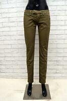 Pantalone DONDUP Donna Taglia Size 21 Jeans Pants Woman Slim Fit Cotone Elastico