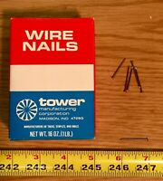 Tower Manufacturing Co Wire Brad Nails 1 Inch 18 Gauge 1 pound Box Brads 25.4mm