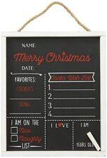 Merry Christmas Chalkboard For Kids, Santa's List, Board 12x 10