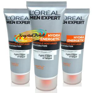 3x Loreal Men Expert Travel Size Hydra Energetic Anti Fatigue Moisturiser - 20ml