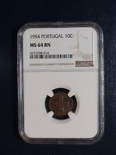 1954 Portugal Ten Centavos NGC MS64 BN 10C Coin PRICED TO SELL NOW!