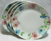 222 Fifth Bastia Multi-Color Bunny Floral Porcelain Dinner Plates Set of 4 New