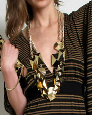 Stella McCartney Gold Wood Chain Geometric Necklace