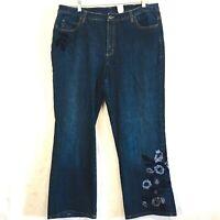 Talbots Women's Plus Size 16 W Jeans Signature Boot Cut Stretch   (38x29)