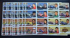 100 UNCUT SHEETS OF 2006 INDIANAPOLIS 500 DRIVER TRADING CARDS