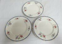 """3 X GRINDLEY TUNSTALL """"THE ST CLAIR"""" SALAD PLATES  DIAMETER 19.75CM / 7.8IN"""