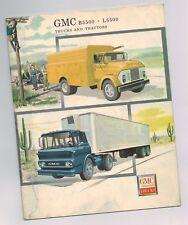 """1960 GMC B5500/L5500 Truck / Tractors Brochure: CONVENTIONAL-90,72"""" TILT,401,"""