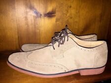 STACY ADAMS Wing Tip OXFORDS Loafers Suede Telford LEATHER Shoes Mens Sz 11 👟5