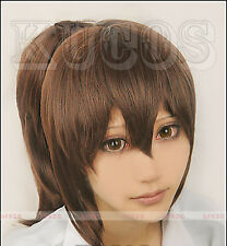 Spirited Away Chihiro Ogino Cosplay Wig With Brown Ponytail + Free Cap+Track No.