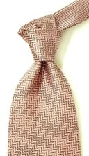 "$250 NWT TOM FORD Woven Pink & White Stair step  Silk Neck Tie Italy 4.0"" W"