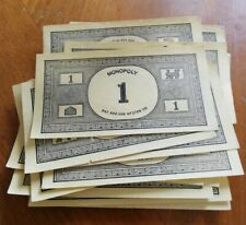 MONOPOLY PAPER MONEY: 20 x £1 BANK NOTES - SPARES / REPLACEMENTS. Vintage VGC.