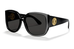 NEW Genuine BURBERRY KINGDOM Black Grey Square Women Sunglasses BE 4290 3001/87