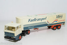 LION CAR LION TOYS 59 DAF 2800 TRUCK WITH TRAILER KOELTRANSPORT TILBURG N MINT